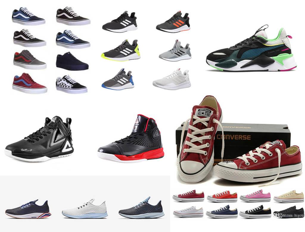 Giày thể thao hàng thùng