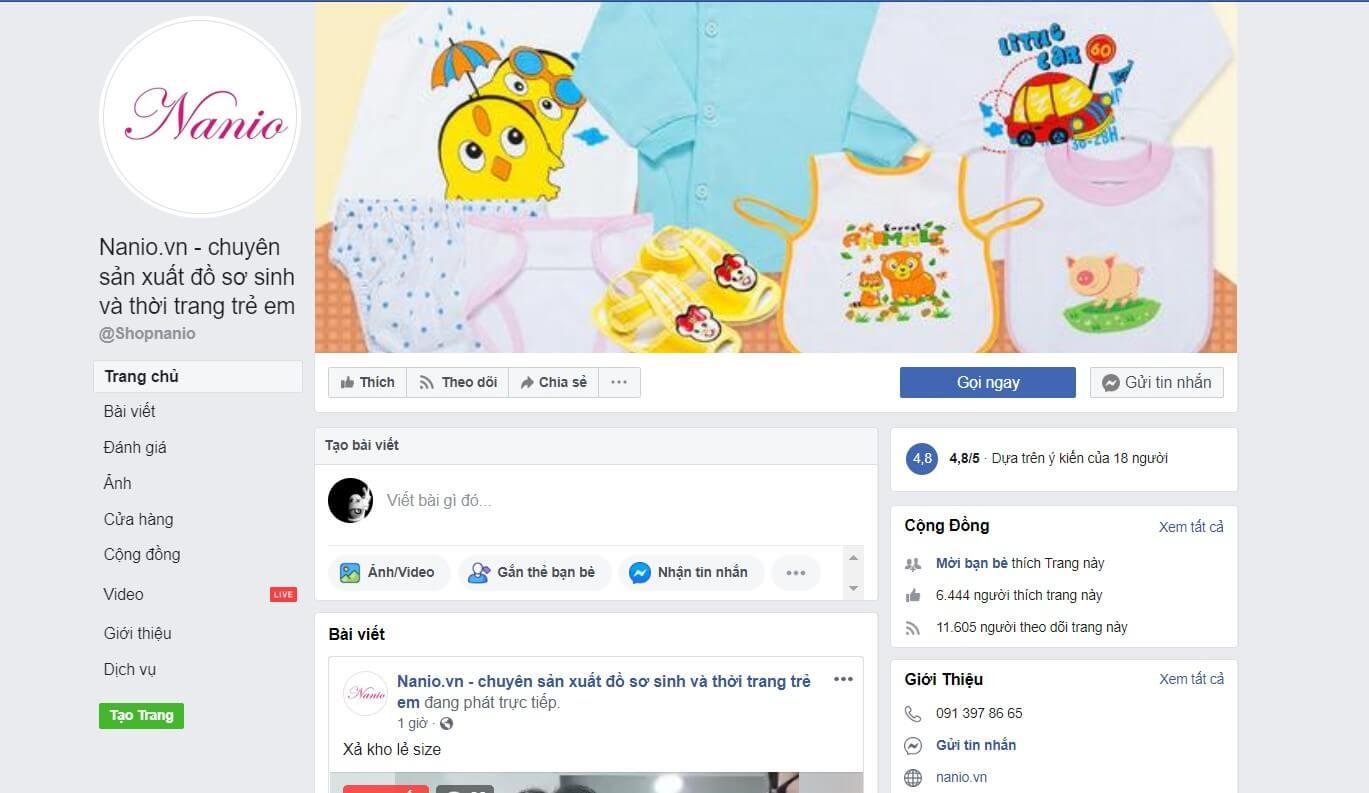 Hình ảnh từ facebook/ Nanio.vn - Chuyên sản xuất, lấy sỉ đồ sơ sinh và quần áo thời trang trẻ em