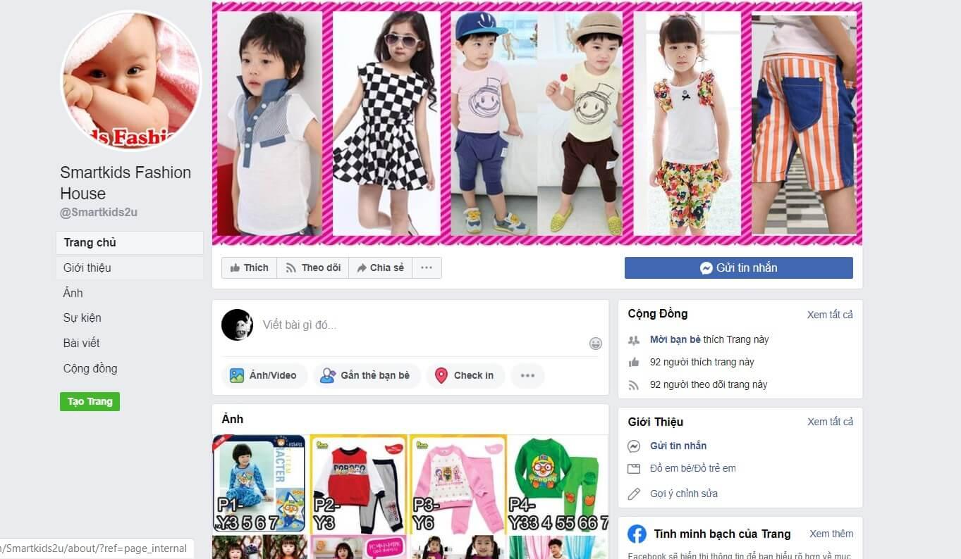 Hình ảnh từ facebook Smartkids Fashion House | Lấy sỉ quần áo trẻ em quảng châu