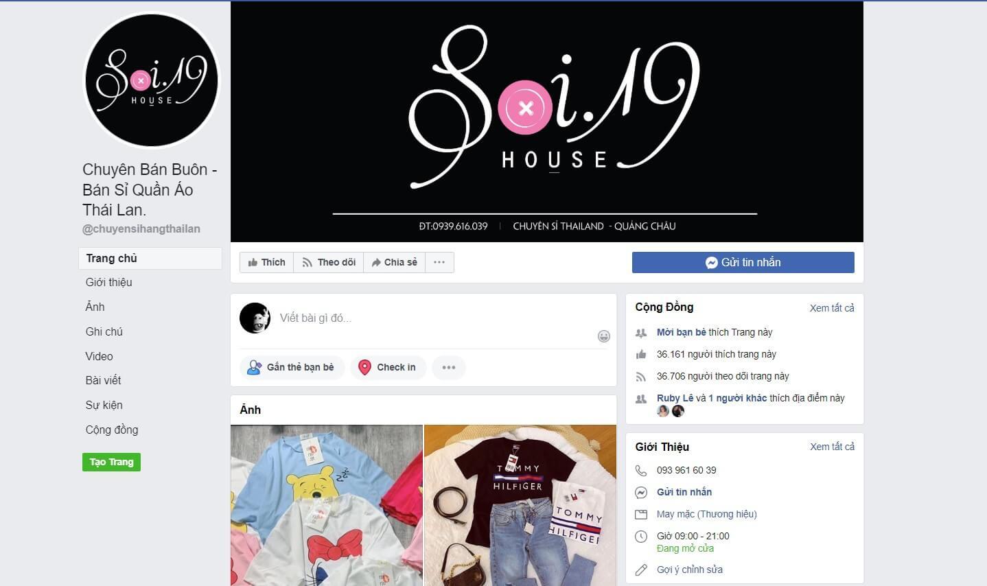 Hình ảnh từ facebook.com/chuyensihangthailan/ | Địa điểm lấy sỉ quần áo Thái Lan