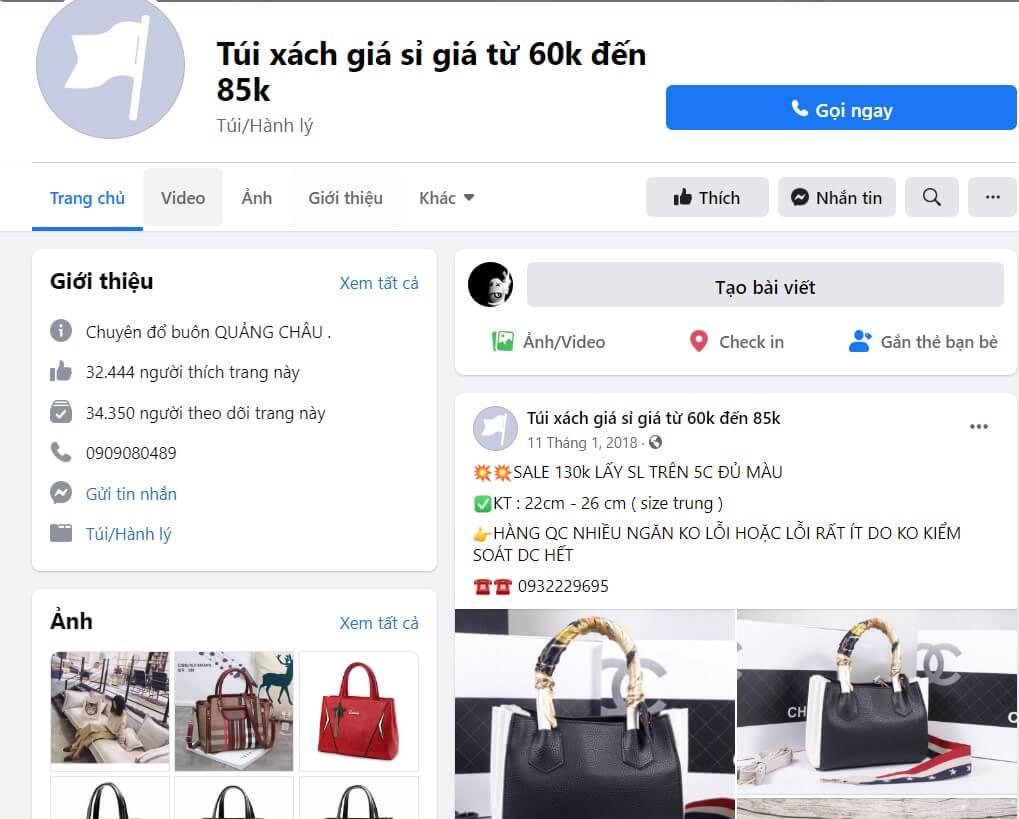 Túi xách giá sỉ giá từ 60k