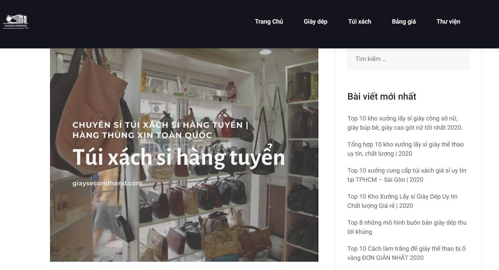 Hình ảnh của website giaysecond.com | Kho lấy sỉ giày, túi xách si hàng thùng