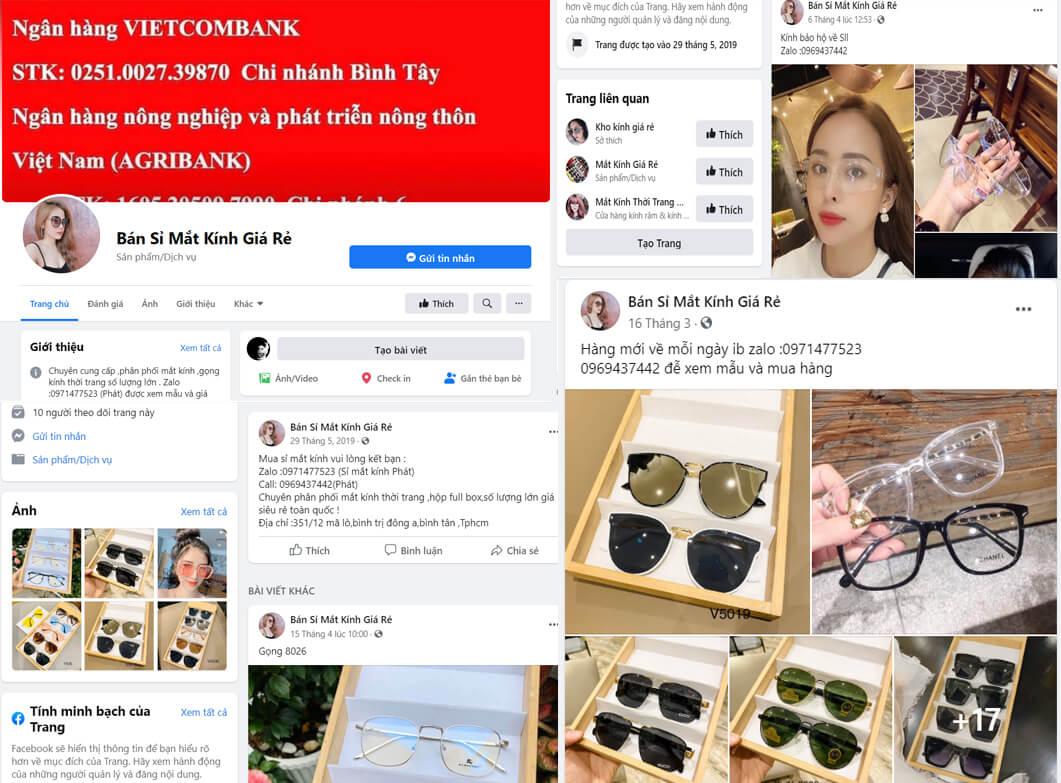 Hình ảnh từ facebook Bán Sỉ Mắt Kính Giá Rẻ | Kho lấy sỉ kính mát giá rẻ
