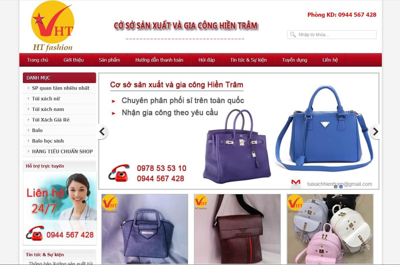 Hình ảnh của website hientram.com | Kho lấy sỉ túi xách