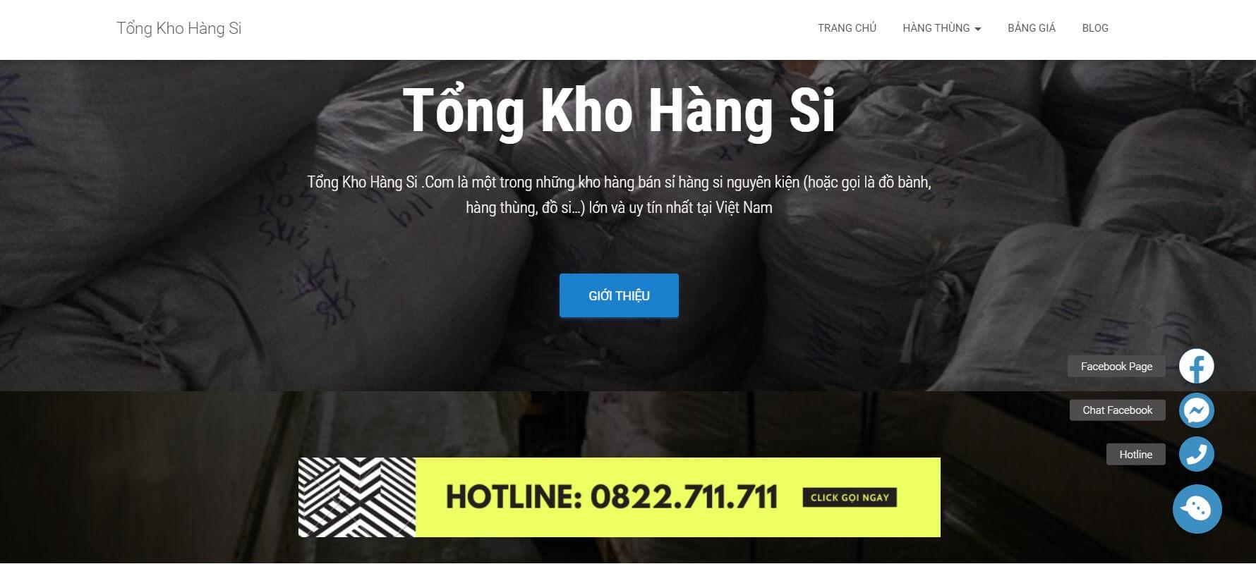 trang web tongkhohangsi