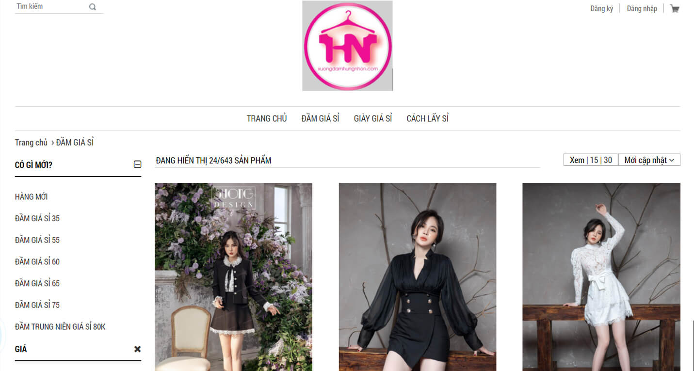 hinh anh website cua xuong may hung nhon