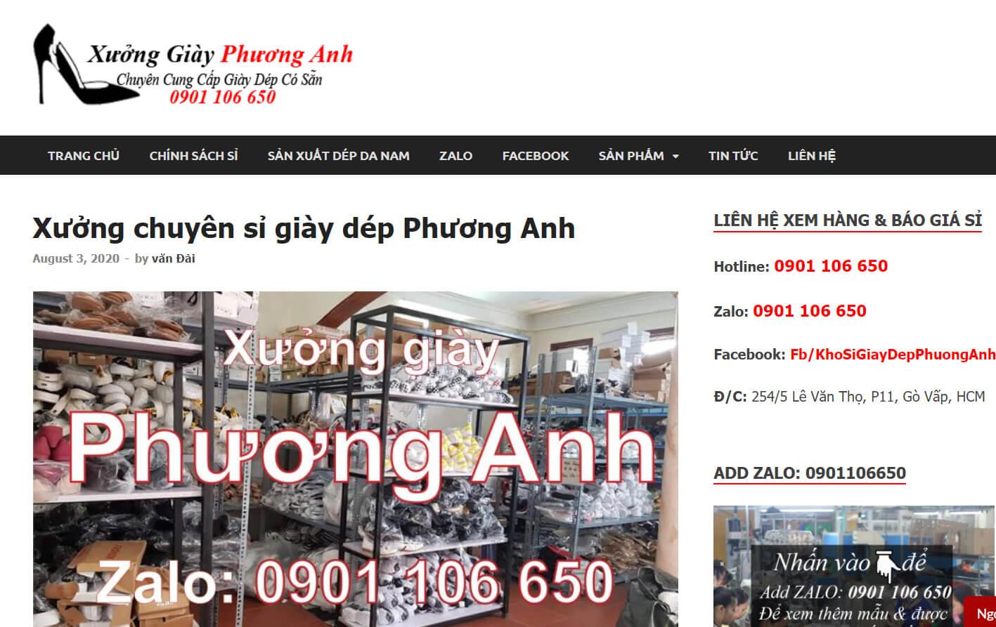 website xuong giay phuong anh