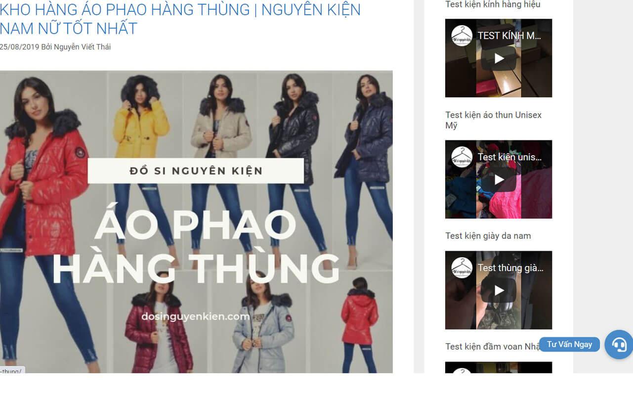 dosinguyenkien.com la mot trong nhung kho hang thung lon nhat hien nay chuyen cung cap ao phao hang thung