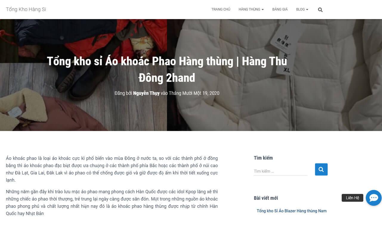 tongkhohangsi.com co kinh nghiem hon 10 nam trong linh vuc hang thung hang secondhand