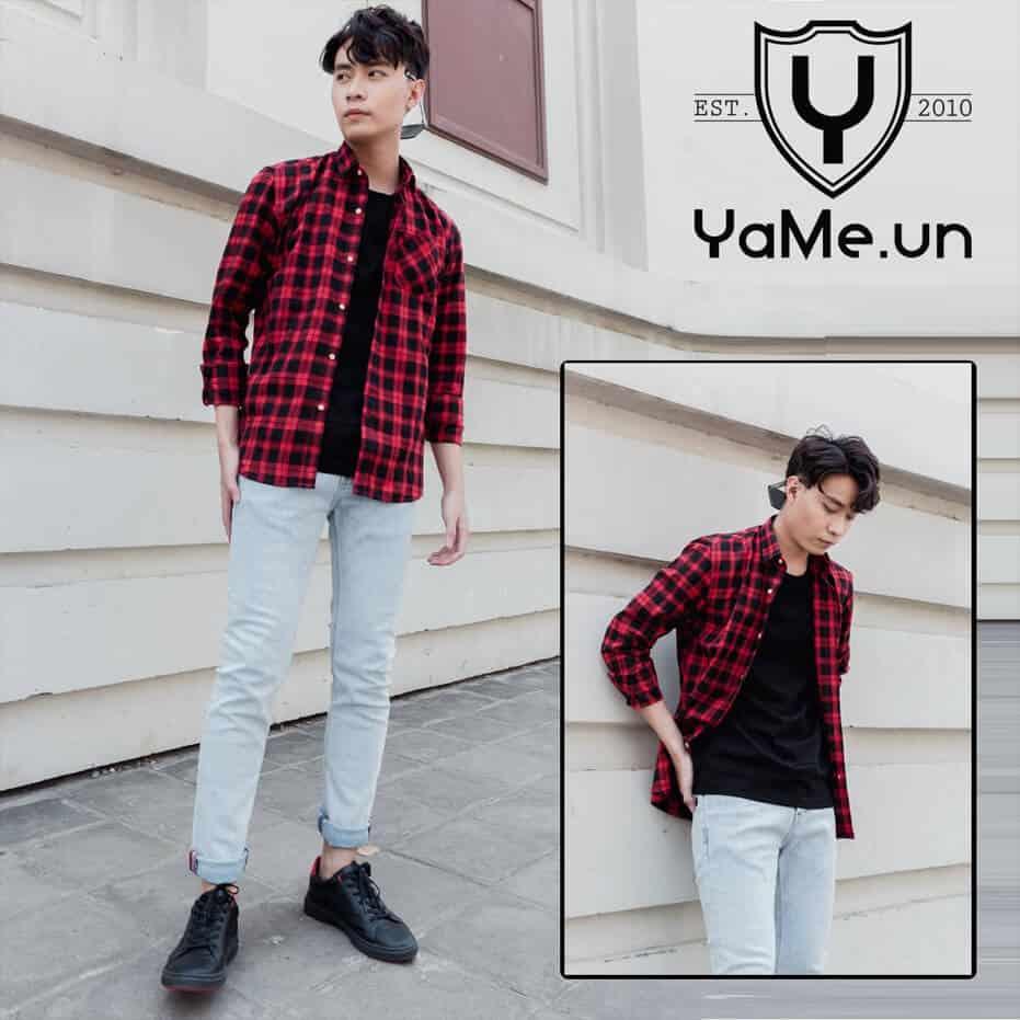 ao so mi flannel lam nen ten tuoi cho yame
