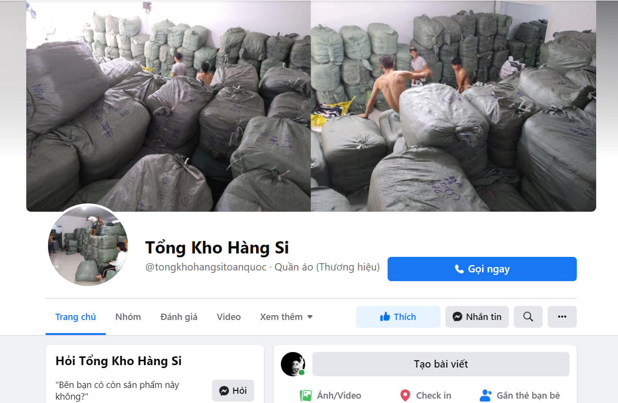 fanpage facebook.comtongkhohangsitoanquoc