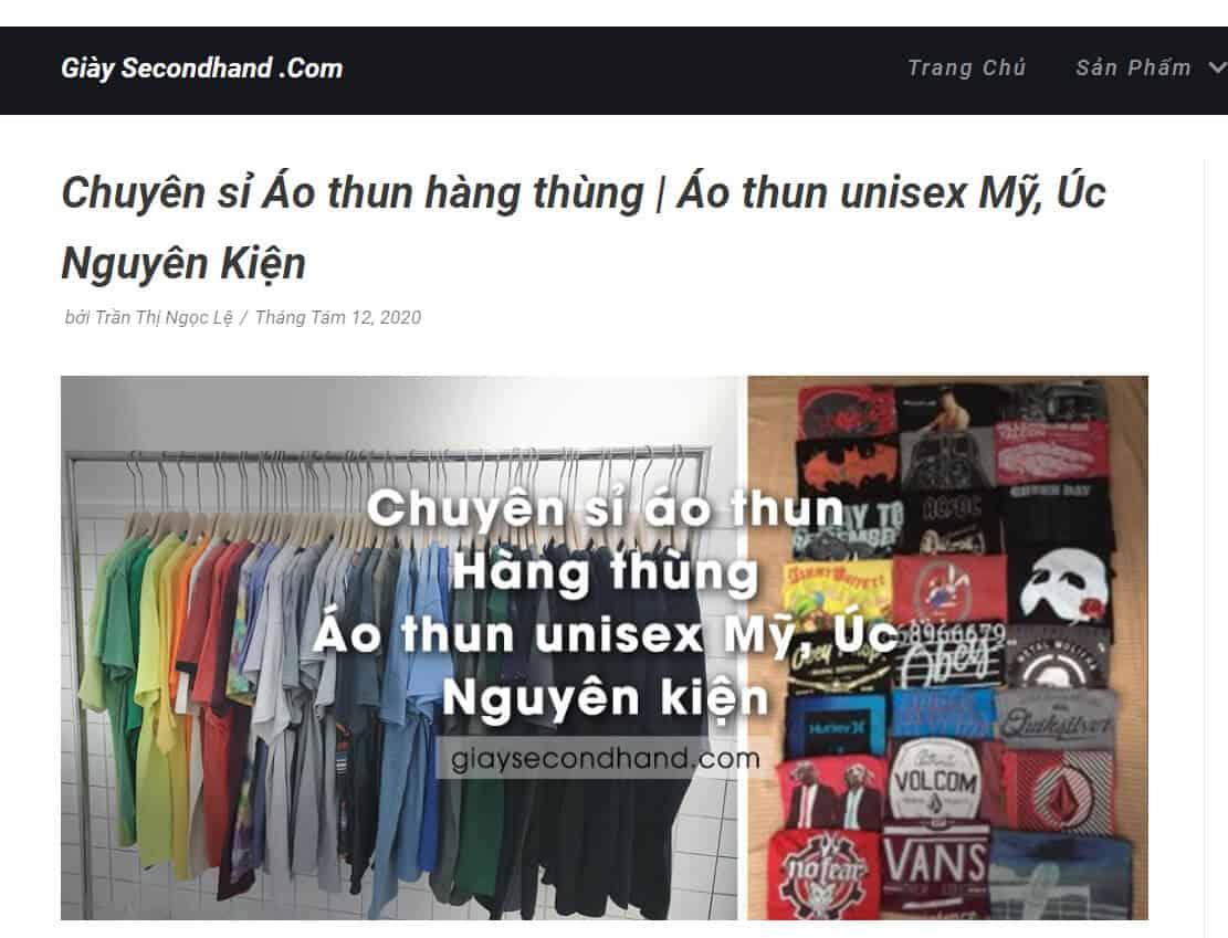 giaysecondhand.com cung cap nguon si ao thun 2hand unisex cuc chat
