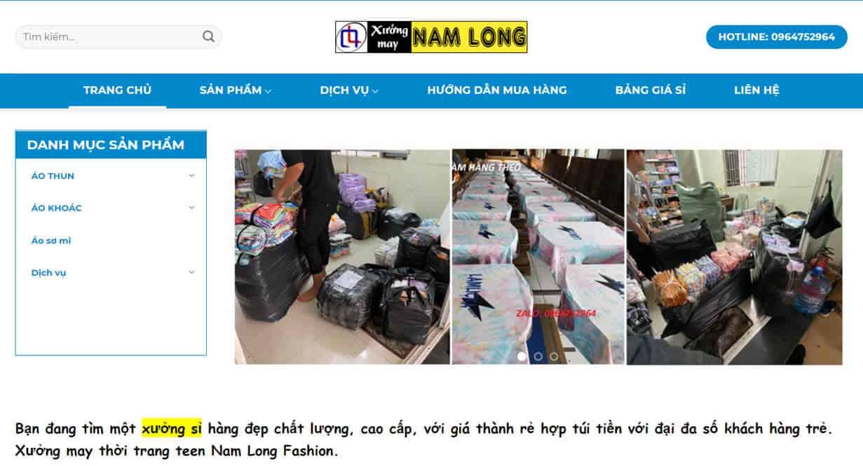 namlongfashion.com chuyen si cac mat hang thoi trang danh cho teen